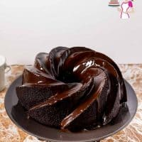 A Devil's Food Chocolate Bundt Cake with Chocolate Glaze.
