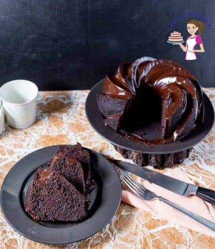 A Devil's Food Chocolate Bundt Cake with Chocolate Glaze.