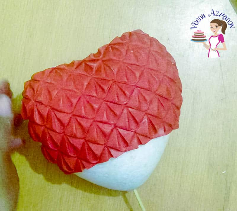 How to make a fondant Heart Cake Topper for Cakes by Veena Azmanov