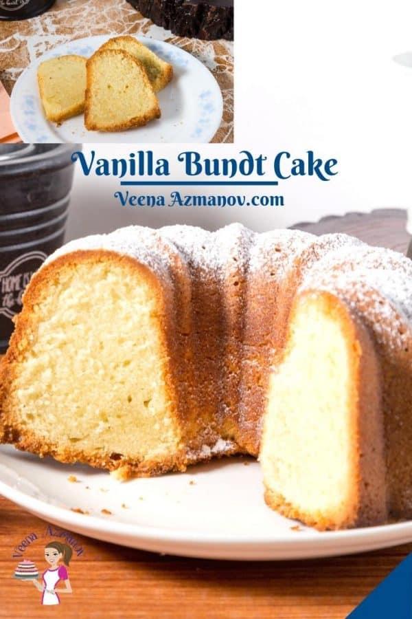 Pinterest image for bundt cake vanilla.