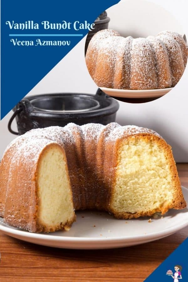 A pinterest friendly image for the vanilla bundt