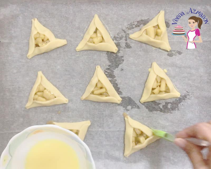Progress Pictures - Purim Cookies - Egg wash the cookies