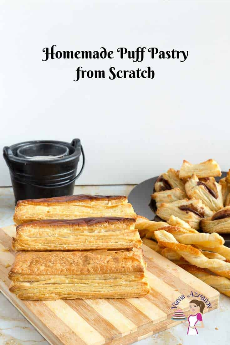 Learn to make French Laminated Dough - Puff Pastry from Scratch with Veena Azmanov