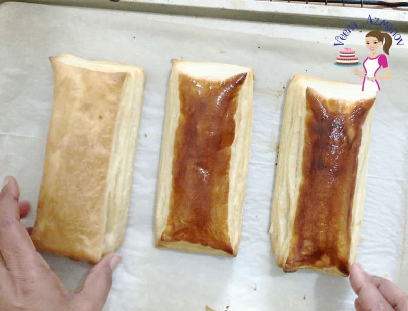 Progress Pictures - Rolling the prepared puff pastry for baking.
