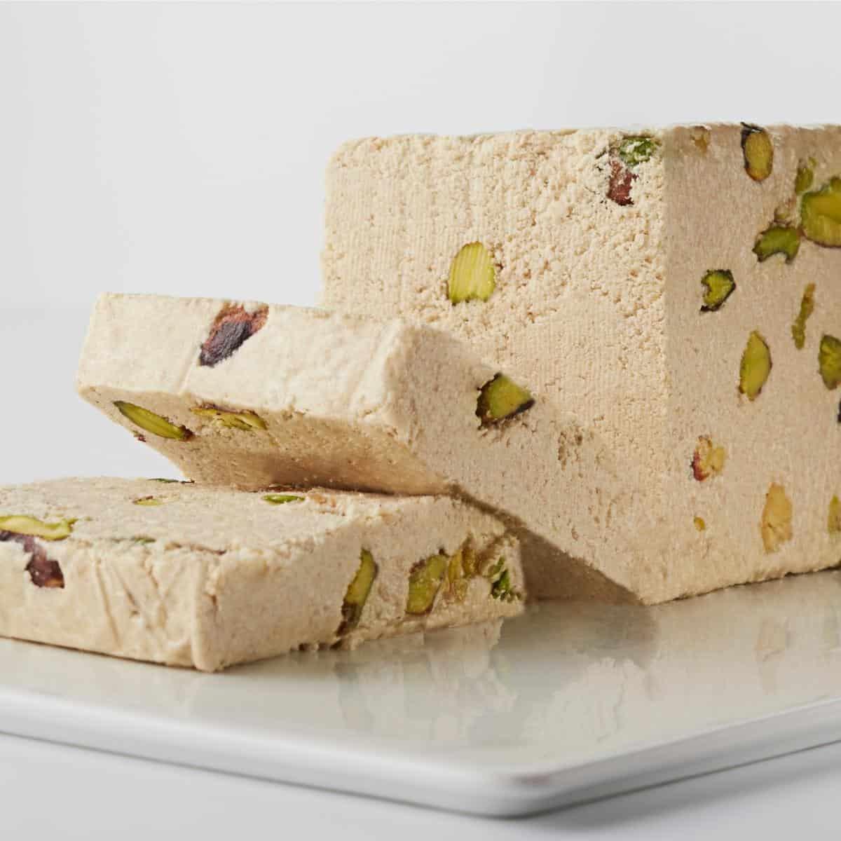 Block of pistachio halva
