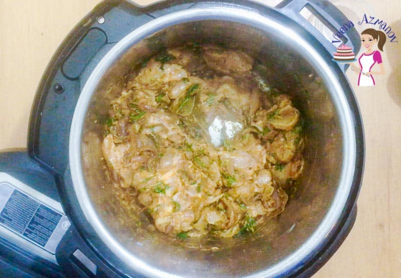 Progress Pictures for Indian Chicken Biryani, made in an Instant Pot or Pressure Cooker