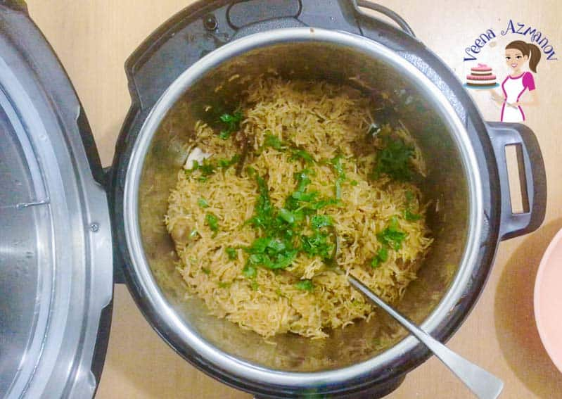 Progress Pictures for Indian Biryani with chicken made in an Instant Pot or Pressure Cooker