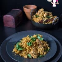 Biryani with chicken made in an Instant Pot or Pressure Cooker