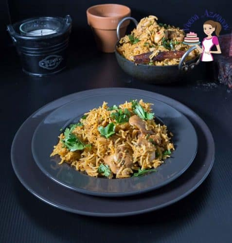Indian Biryani with chicken made in an Instant Pot or Pressure Cooker