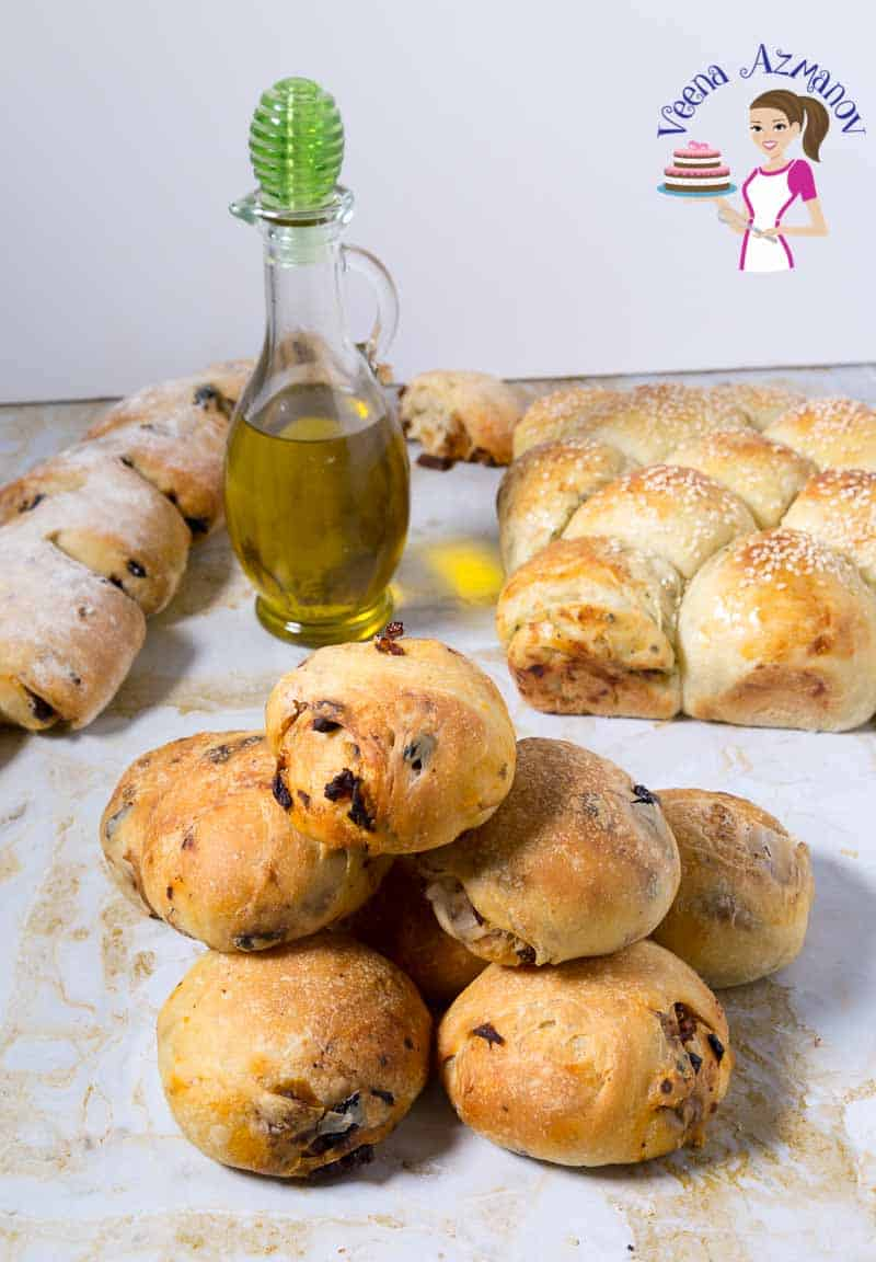 Perfect Dinner Rolls, Sun-Dried Tomato Bread, Olive Bread rolls