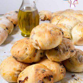 Perfect Dinner Rolls, Sun-Dried Tomato Bread, Olive Bread rolls