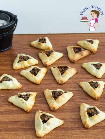 Learn to make festive Purim cookies or Hamantaschen cookies with Pecan Pie Filling