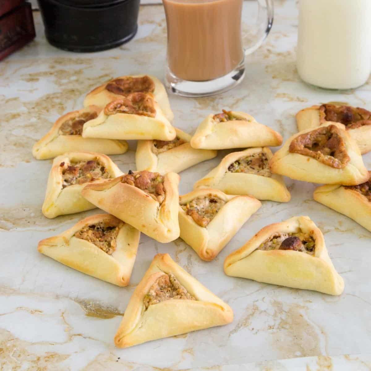 Halva cookies on a table