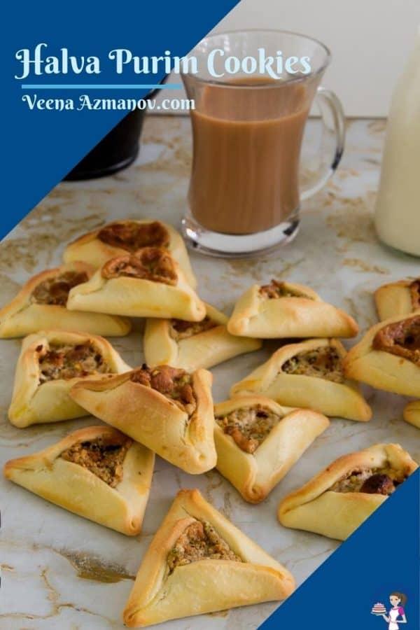 Pinterest image for hamantaschen cookies