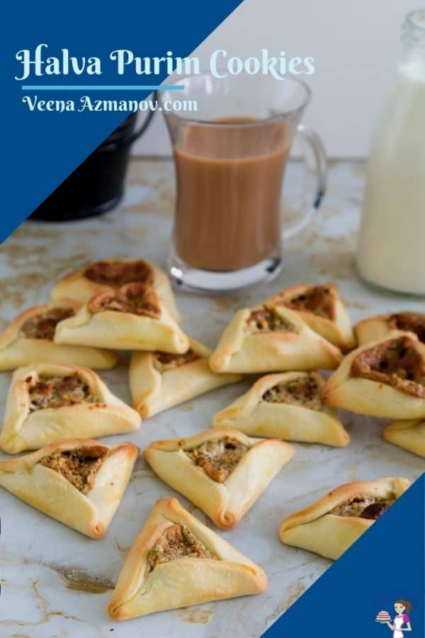 Pinterest image for purim cookies