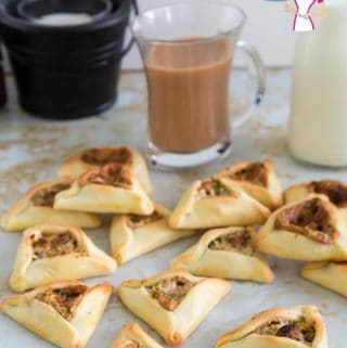 Hamantaschen Cookies with Halva and Pistachio