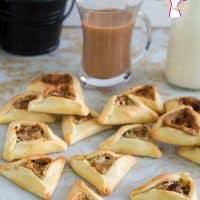 Hamantaschen Cookies with Halva and Pistachio