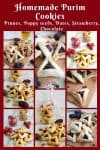 Collection of Hamantaschen Cookies, Purim Cookies also called Oznei Haman Cookies