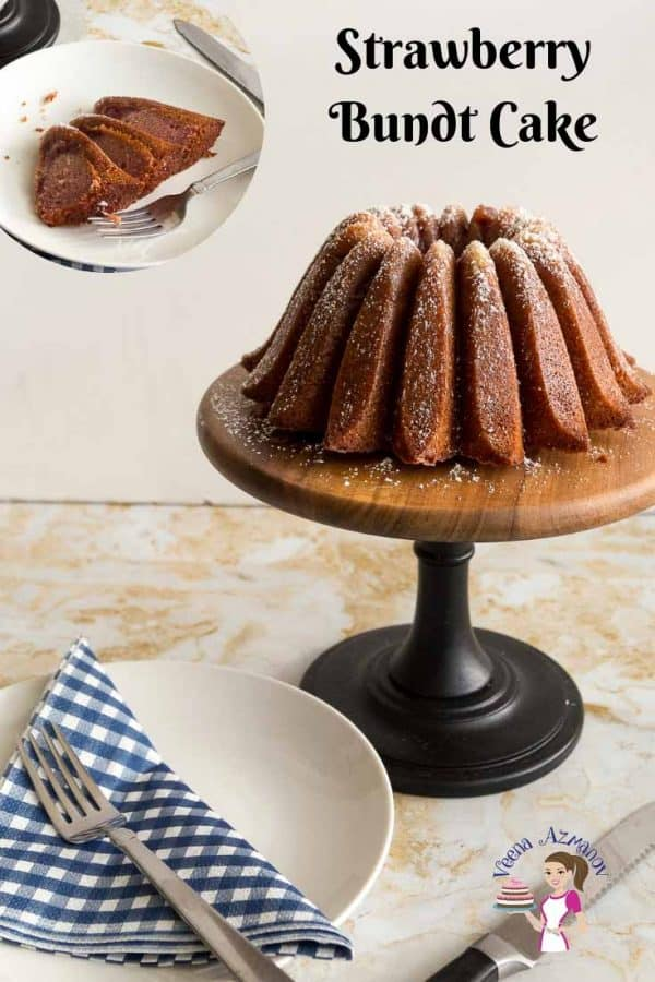 How to make the best strawberry cake in a bundt pan with strawberry filling