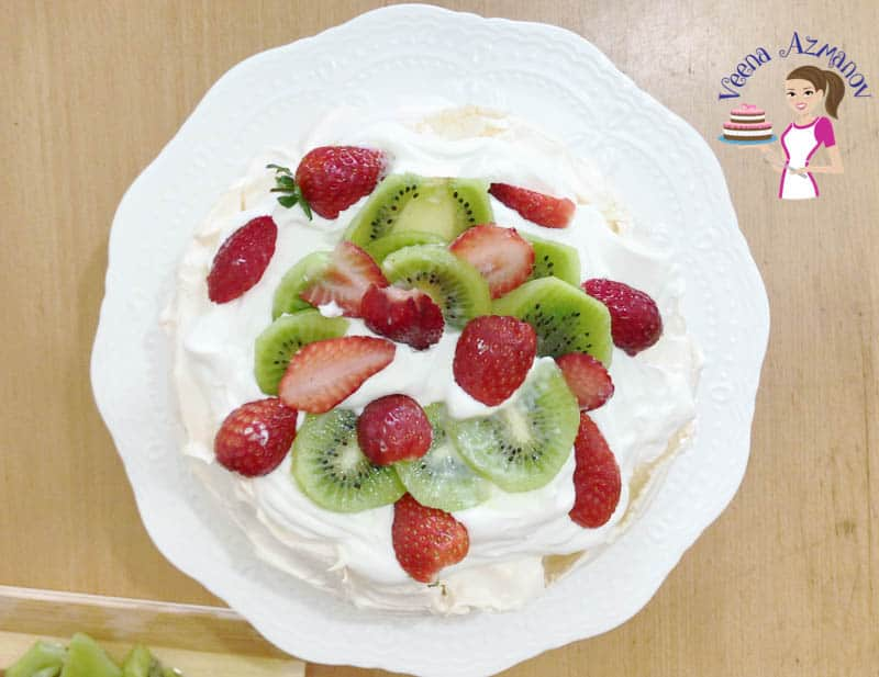 Easy Pavlova with Strawberries, kiwi, blueberry and Passion Fruit Progress Pictures