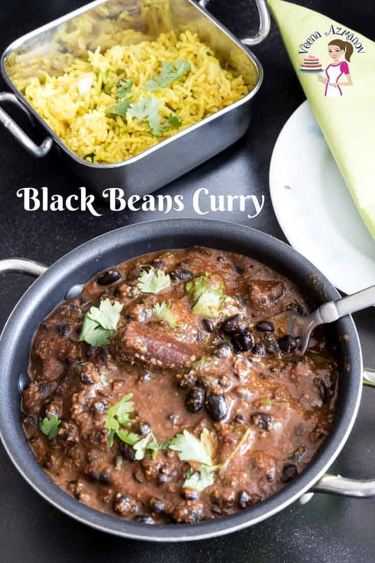 Make a rich, creamy and delicious black beans curry with dried or canned black beans in less than 15 minutes #black #beans #curry #Indian #15mins via @Veenaazmanov