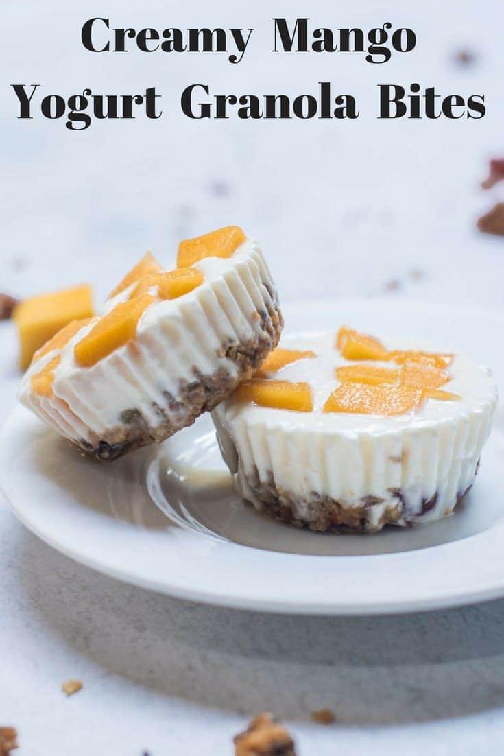 Creamy Mango Yogurt Granola Bites - With Cream Cheese And Honey