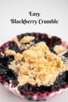 Perfect Homemade Crumble with Blackberries