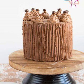 Layer cake, coffee, espresso, whipped ganache,