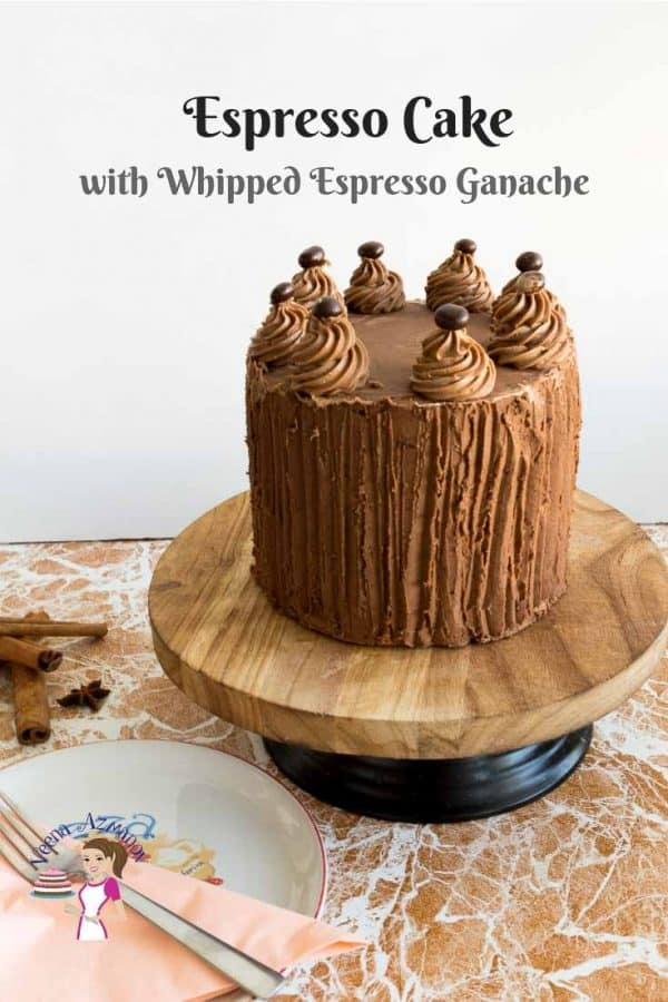 Layer cake, coffee, espresso, whipped ganache,