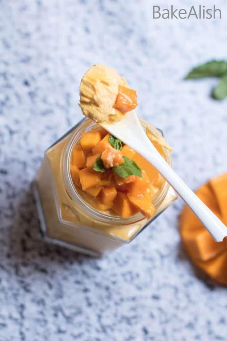 Mango Cheesecake Jars - No Bake Cheesecake In a Jar