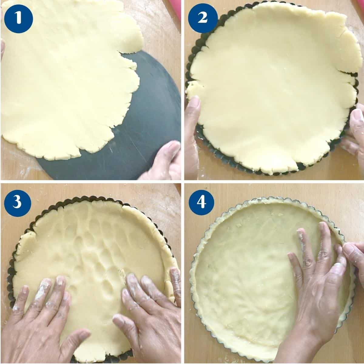 Progress pictures collage how to roll the shortcrust method 3.