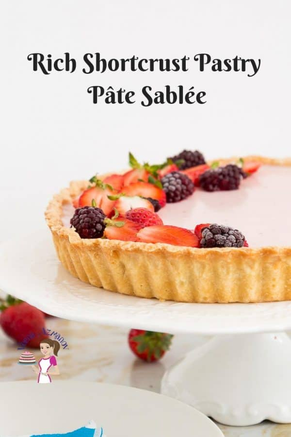 Rich Shortcrust Fresh Pastry called Pâte sablée - video tutorial