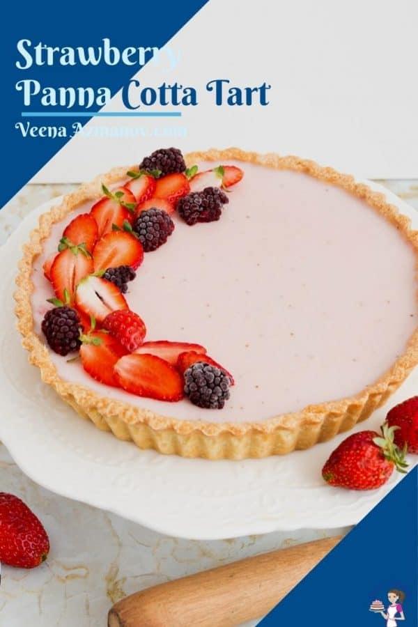 Pinterst image for panna cotta tart