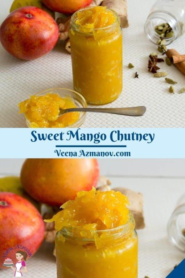 Pinterest image for mango chutney.