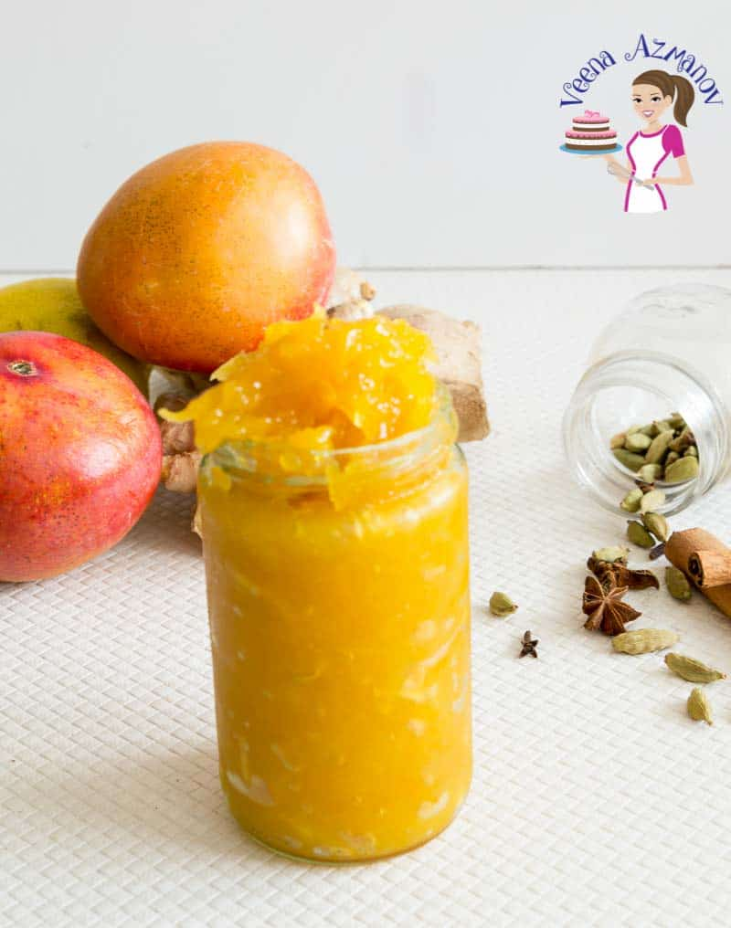 Sweet Chutney made with semi-ripe mango, grated ginger and warm spices.