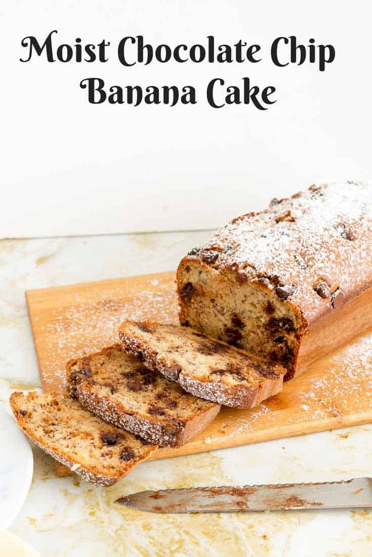 Moist Cake, Banana, Chocolate Chips, Coffee Cake