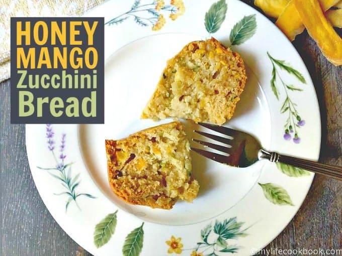 Quick & Easy Honey Mango Zucchini Bread