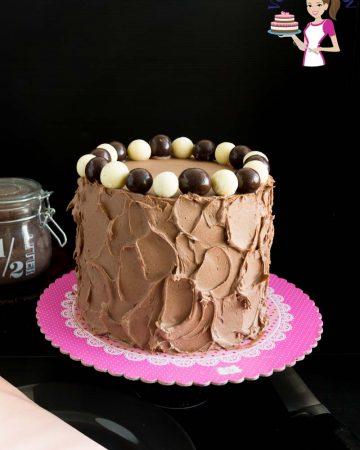 Kahlua cake on a table.