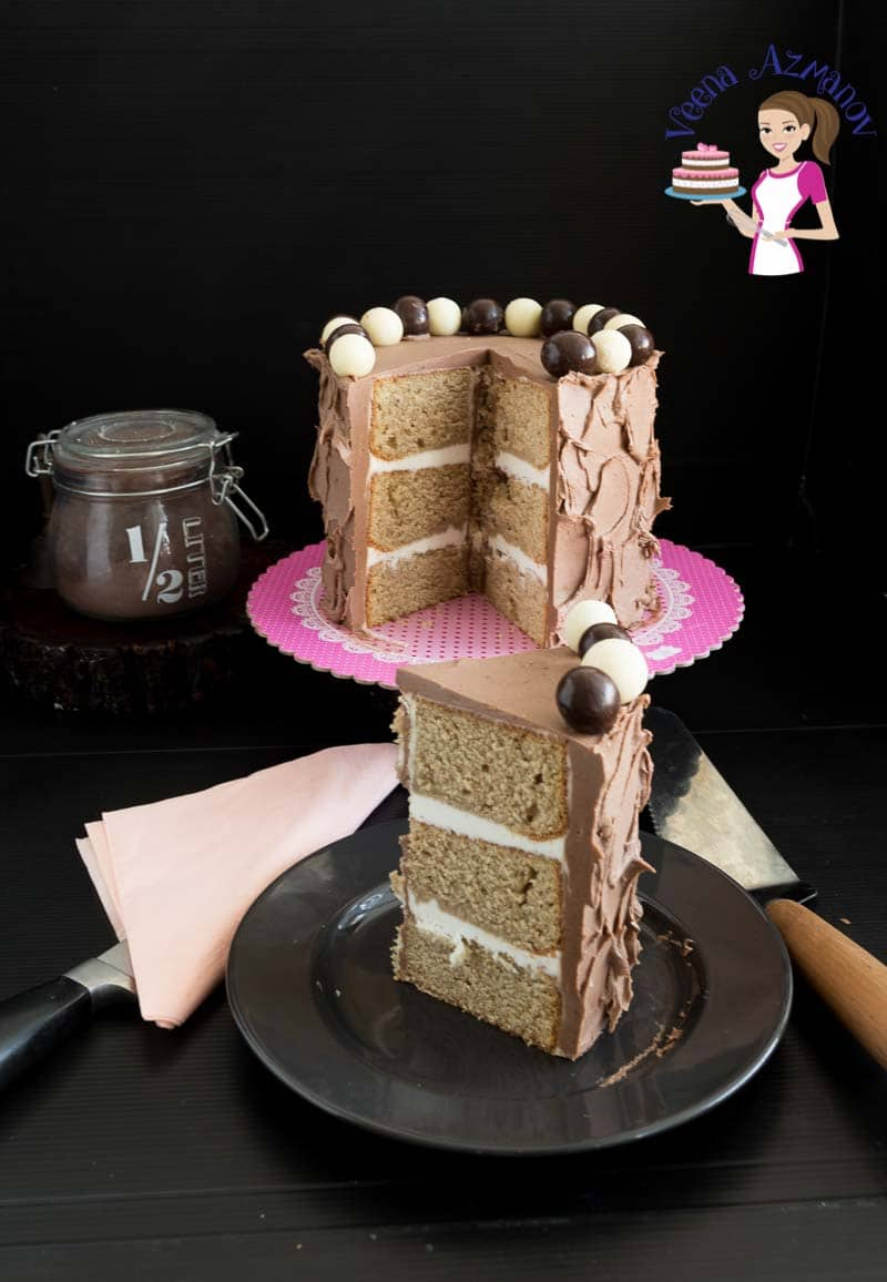 Layer Cake, Kahlua Coffee Liquor, Vanilla Cake, Kahlua Chocolate Buttercream Frosting