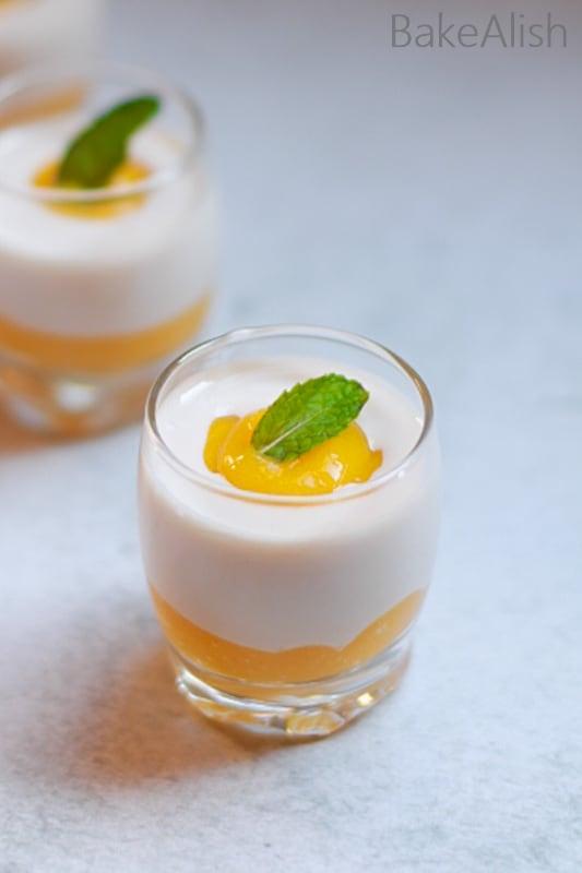Mango Coconut Summer Dessert - 3 Ingredient Dessert Recipes
