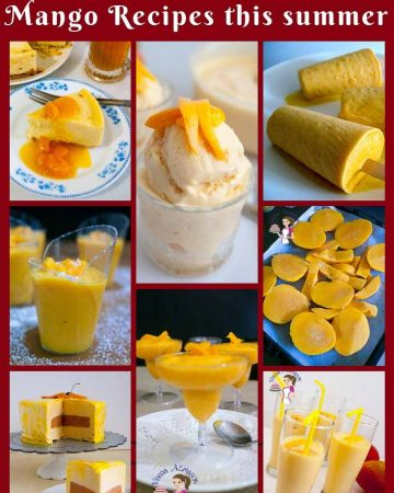 A collage of mango dessert recipes.