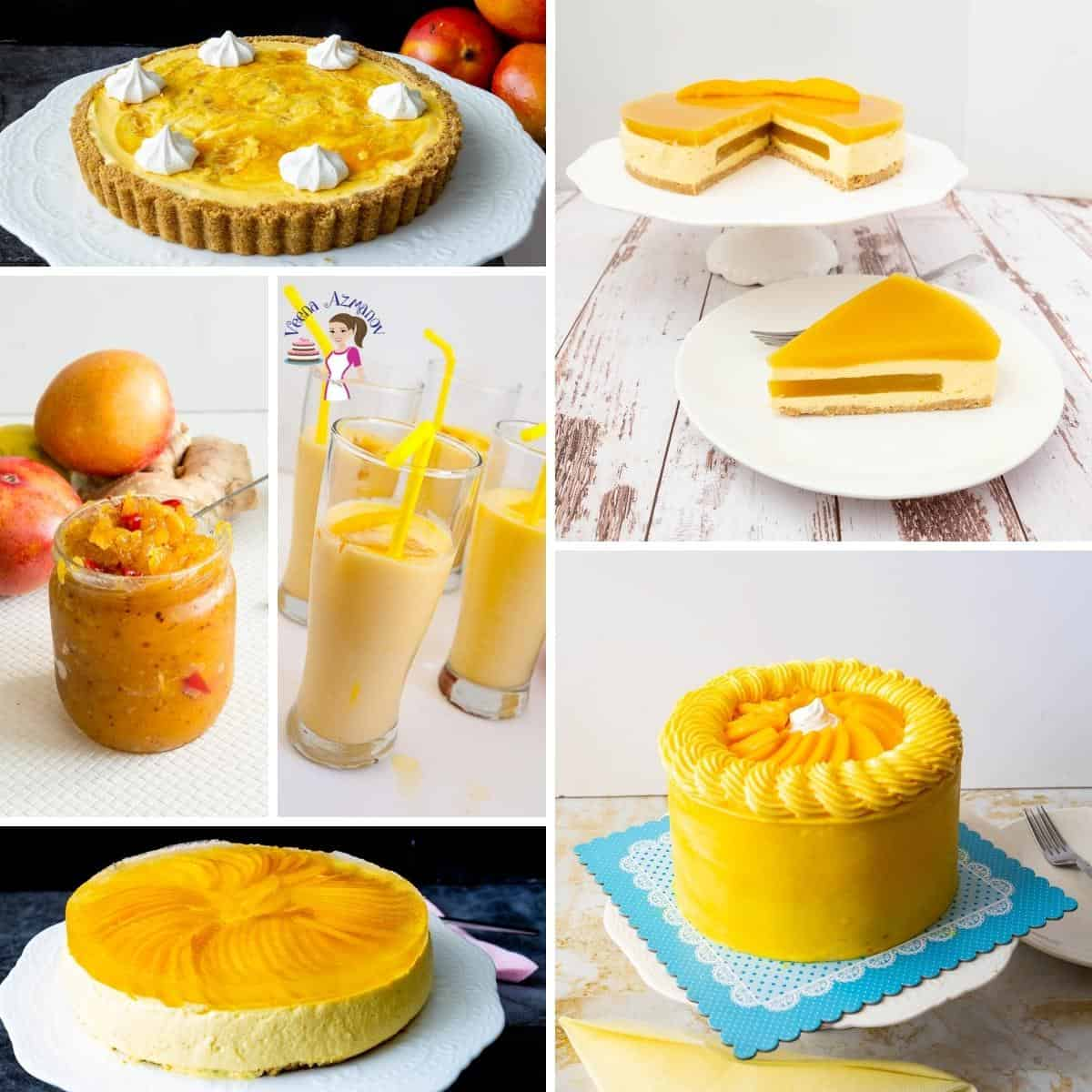 Collage for recipes made using mango.