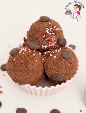 Belgium Chocolate, NO Churn Ice Creams, Homemade Recipe