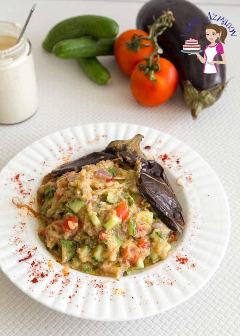 Salad, Eggplant, Roasted, Lebanese, 20 minutes