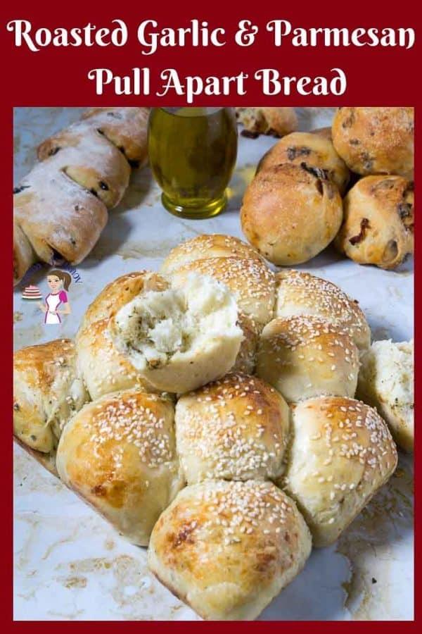 Dinner Rolls, Parmesan, Roasted Garlic, Mediterranean Bread Rolls,