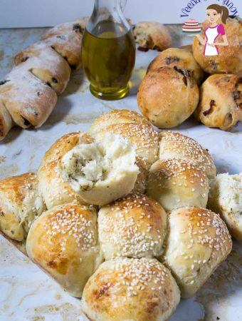 Dinner Rolls, Parmesan, Roasted Garlic, Mediterranean Bread Rolls,