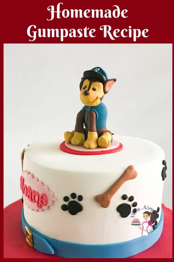 A Paw Patrol birthday cake.
