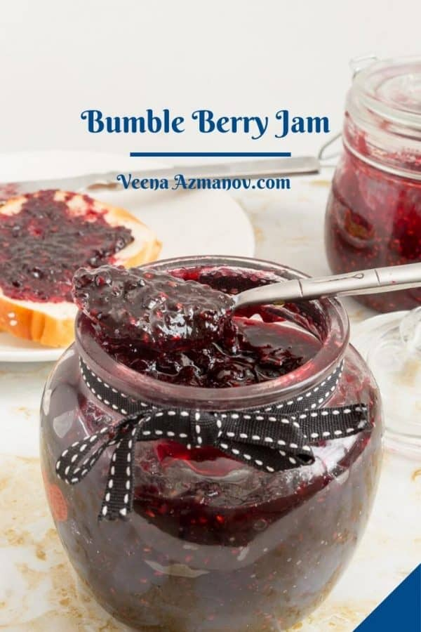 Pinterest image for bumble berry jam.
