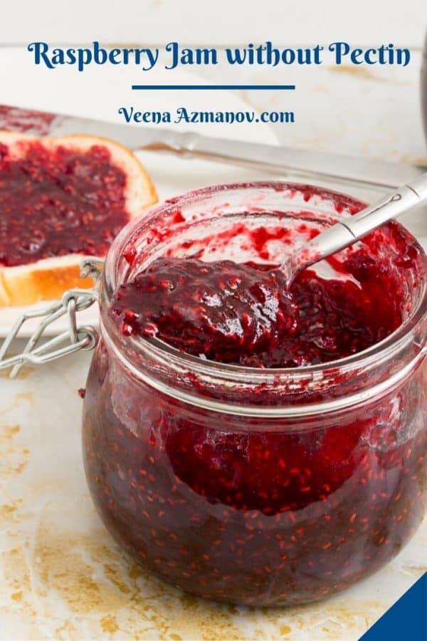 Pinterest image for raspberry jam.