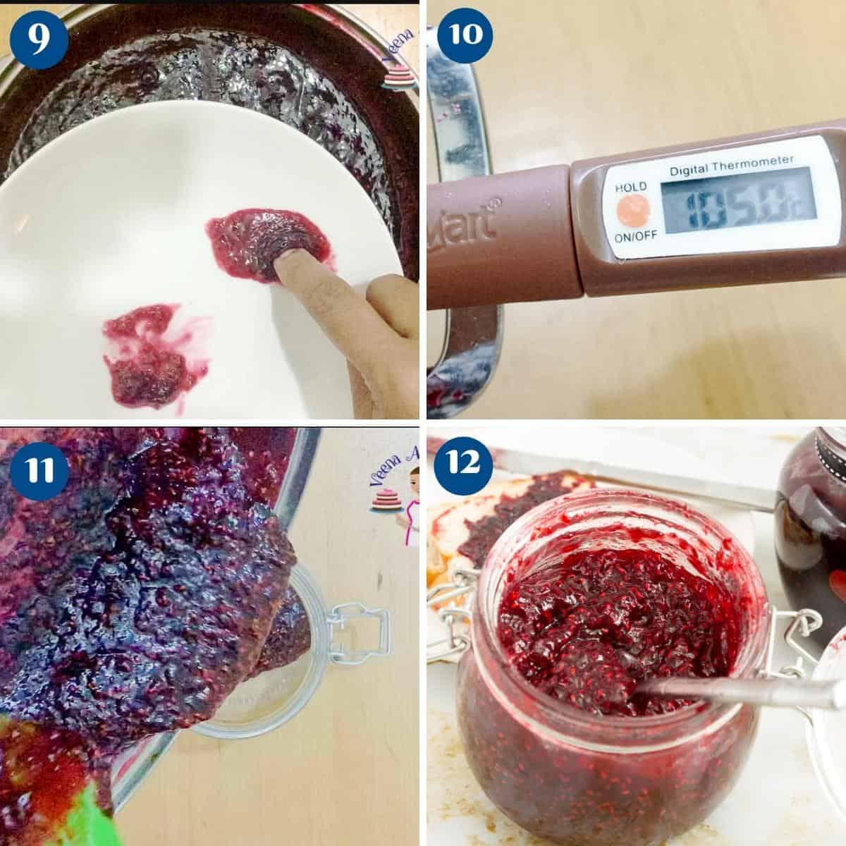Progress pictures - raspberry jam.